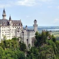 Amazing Landscape Neuschwanstein Castle Germany Bavaria