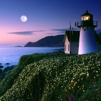 Beautiful Point Montara Lighthouse California